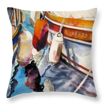 Cassis Castaways Throw Pillow by Rae Andrews