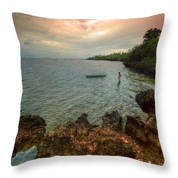 Cast Away Throw Pillow by Yhun Suarez