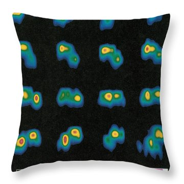 Castalia Asteroid Sequence, False-color Throw Pillow by Science Source