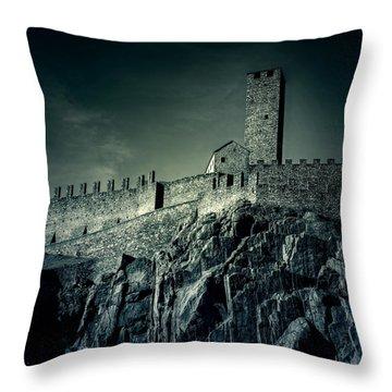 Castelgrande Bellinzona Throw Pillow by Joana Kruse