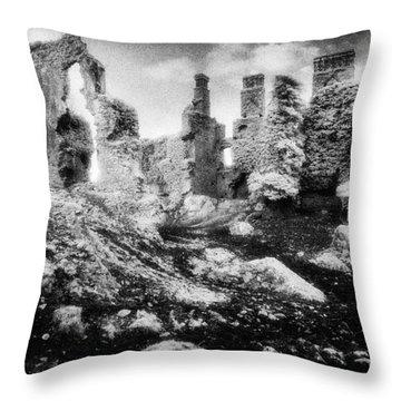 Castle Lyons Throw Pillow by Simon Marsden