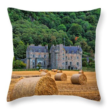 Castle Menzies Throw Pillow