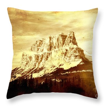 Castle Mountain Throw Pillow by Alyce Taylor