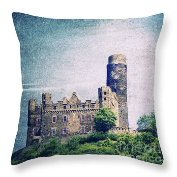 Castle Mouse Throw Pillow by Angela Doelling AD DESIGN Photo and PhotoArt
