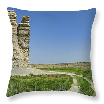 Castle Rock Throw Pillow by Alan Hutchins