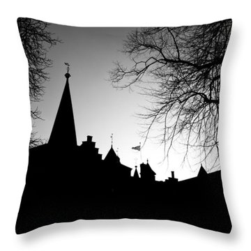 Castle Silhouette Throw Pillow by Semmick Photo