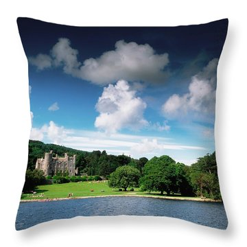Castlewellan Castle & Lake, Co Down Throw Pillow by The Irish Image Collection