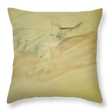 Cat Sketch Throw Pillow
