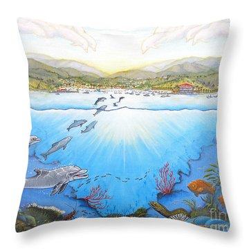 Catalina Island California Throw Pillow by Jerome Stumphauzer