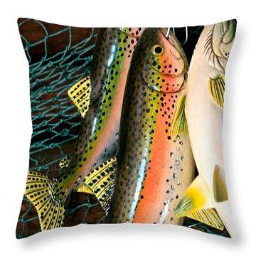 Catch Of The Day Throw Pillow by Karon Melillo DeVega