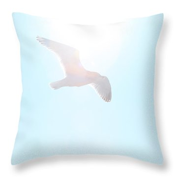 Catch The Rays Throw Pillow by Karol Livote
