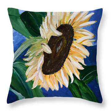 Catching The Rays Throw Pillow by Dolores  Deal