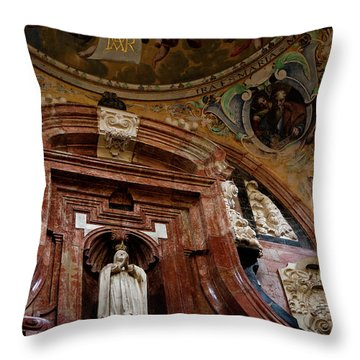 Throw Pillow featuring the photograph Cathedral Ceiling Detail by Lorraine Devon Wilke
