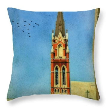 Throw Pillow featuring the photograph Cathedral by Joan Bertucci