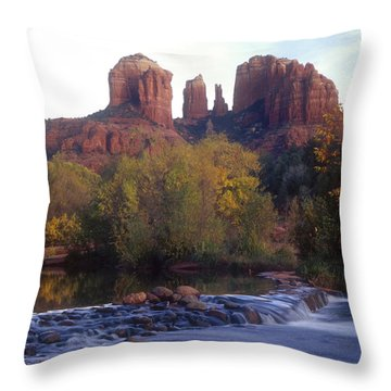 Throw Pillow featuring the photograph Cathedral Rock by Darleen Stry