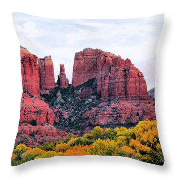 Cathedral Rock Throw Pillow by Kristin Elmquist