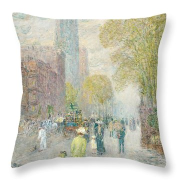 Cathedral Spires Throw Pillow by Childe Hassam