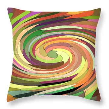 Cat's Tail In Motion. Stained Glass Effect. Throw Pillow by Ausra Huntington nee Paulauskaite
