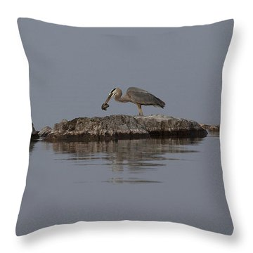 Caught One Throw Pillow by Eunice Gibb