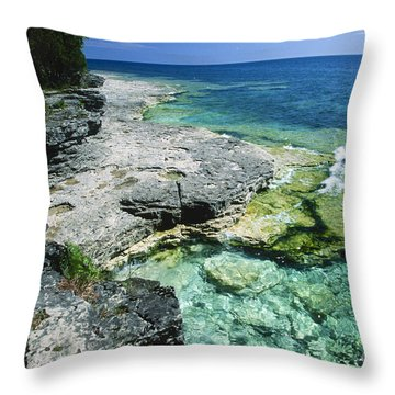 Cave Point Vista Throw Pillow