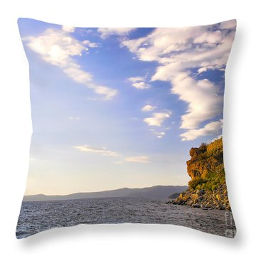 Cave Rock - Lake Tahoe Throw Pillow