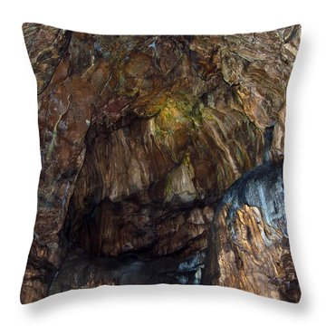 Cave01 Throw Pillow by Svetlana Sewell