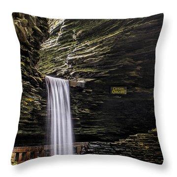 Cavern Cascade Throw Pillow