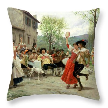 Celebration Throw Pillow by William Henry Hunt
