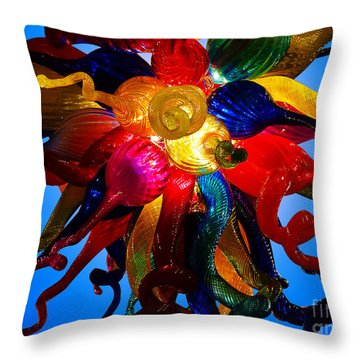 Celestial Glass 7 Throw Pillow by Xueling Zou