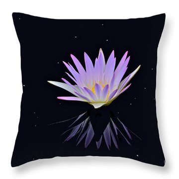 Celestial Waterlily Throw Pillow