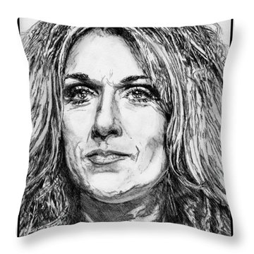 Celine Dion In 2008 Throw Pillow by J McCombie