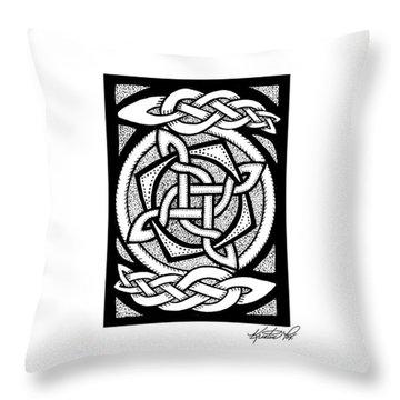 Celtic Knotwork Rotation Throw Pillow
