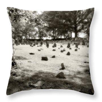 Cemetery At Mud Meeting House Throw Pillow by Mark Jordan