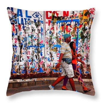 Cenal Truckin' Throw Pillow by Skip Hunt