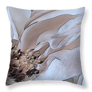 Centerfold Throw Pillow by Susan Smith