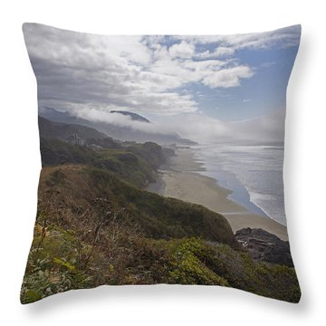 Central Oregon Coast Vista Throw Pillow by Mick Anderson
