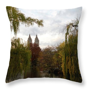 Central Park Autumn Throw Pillow