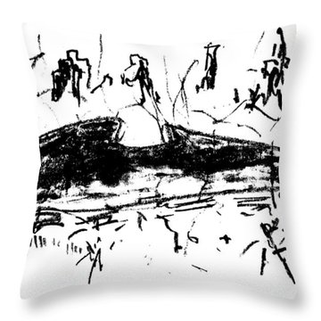 Central Park Early Spring Throw Pillow by Patrick Morgan