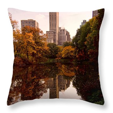 Throw Pillow featuring the photograph Central Park by Michael Dorn