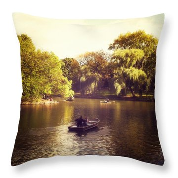 Central Park Romance - New York City Throw Pillow by Vivienne Gucwa