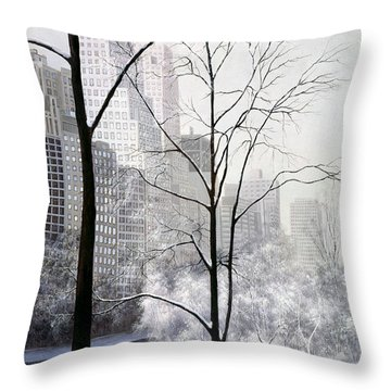 Central Park Vertical Throw Pillow by Diane Romanello