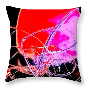 Cephalopod Throw Pillow by Xn Tyler