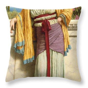 Cestilia Throw Pillow by John William Godward