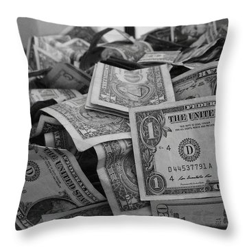 Cha Ching Throw Pillow by Anna Villarreal Garbis