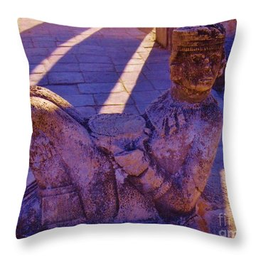 Chac Mool Throw Pillow by John Malone