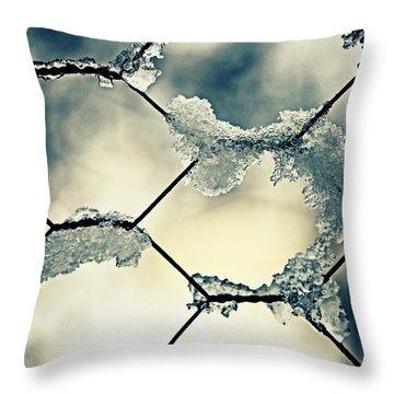 Chainlink Fence Throw Pillow by Joana Kruse