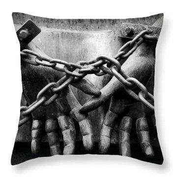 Chains Throw Pillow by Fabrizio Troiani