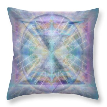 Chalice Of Vorticspheres Of Color Shining Forth Over Tapestry Throw Pillow
