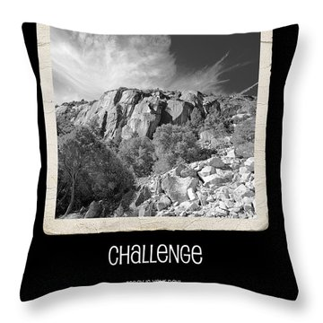 Challenge Throw Pillow by Bonnie Bruno