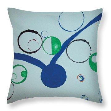 Champagne Seagull Throw Pillow by Jimi Bush